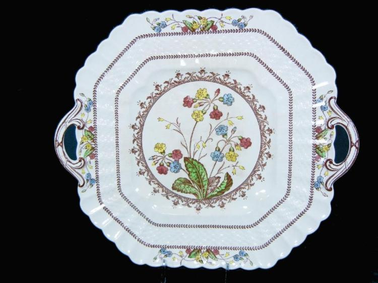 Copeland Spode China Cowslip Handled Cake Plate