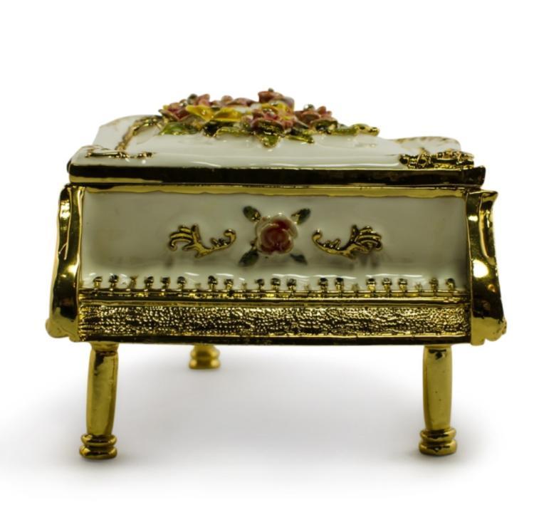 Faberge Inspired Piano Jewel Trinket Box