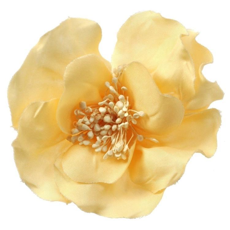 Authentic Vintage CHANEL Camellia Canvas Brooch