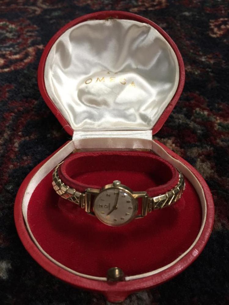 9kt Gold Ladies Omega Wrist Watch