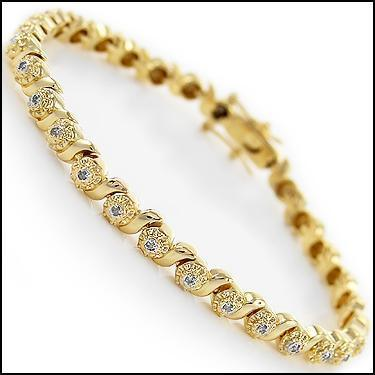 Gold & Diamond Tennis Bracelet