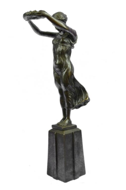 After Chiparus, Vienna Girl Bronze Sculpture