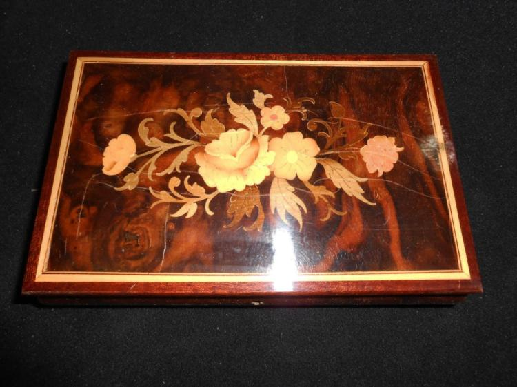 Vintage Sorrento Inlaid Wooden Music Box