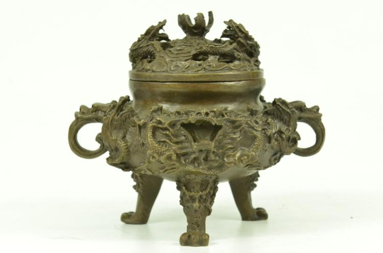 Bronze Dragon Sensor, Incense Burner