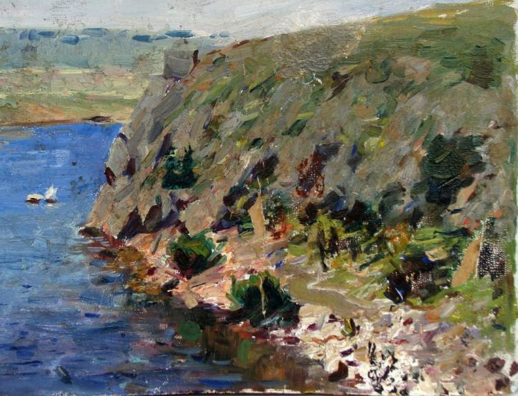 Mid 20thc Russian School, Seascape Oil Painting