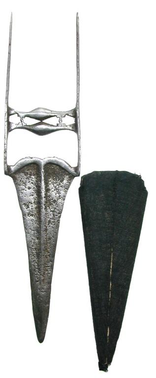 18th Century Indian Katar, Original Leather Sheath