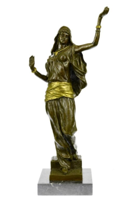 Harem Girl, Bronze with Gold Gilt Sculpture