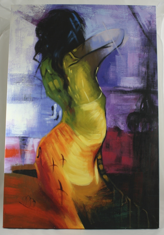 Oil On Canvas, Contemporary Nude Portrait