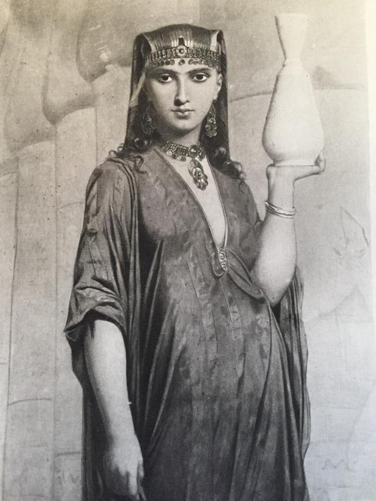 1880's Photogravure, A Woman Of Thebes