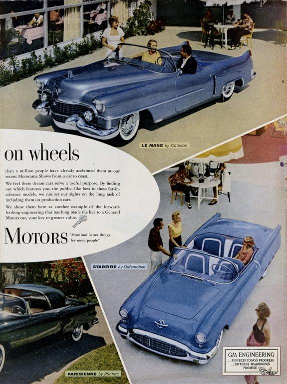 1953 GM Motors Cadillac, Oldsmobile & Pontiac Ad