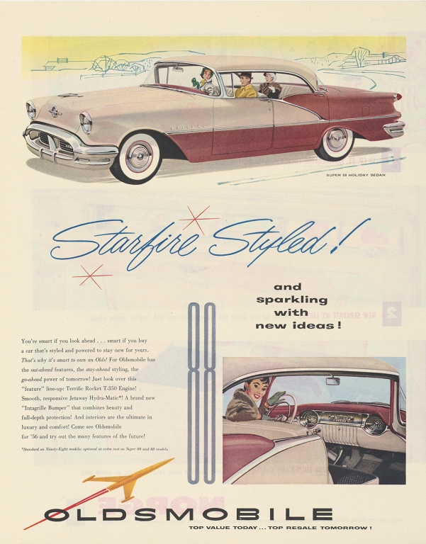 1956 Oldsmobile Starfire Advertisement