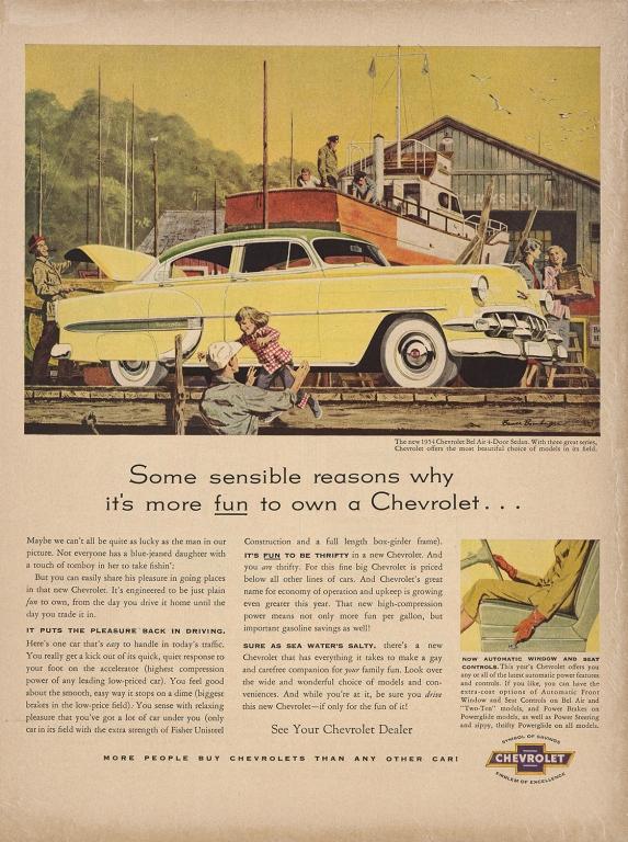 1954 Chevrolet Bel Air Sedan Advertisement