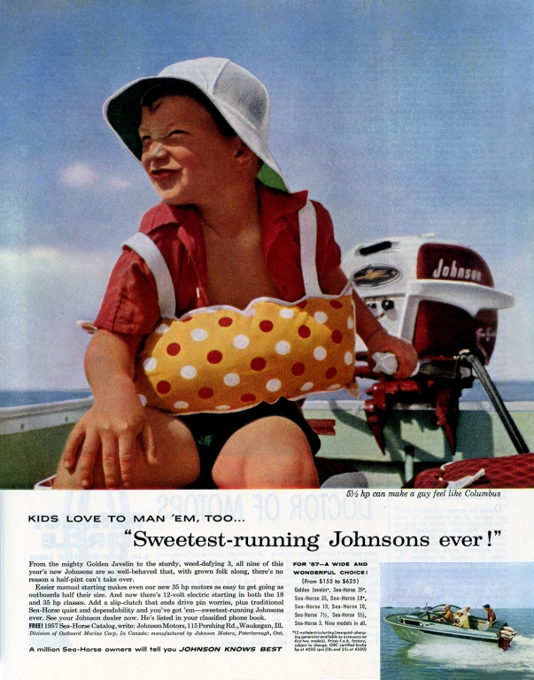 1957 Johnson Boat Motors Advertisement
