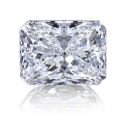 Pair 2ctw Radiant Cut BIANCO Diamonds