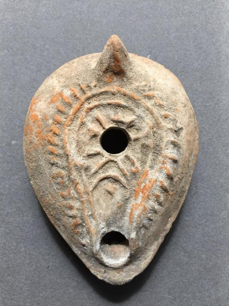 5thc AD Ancient Roman Oil Lamp