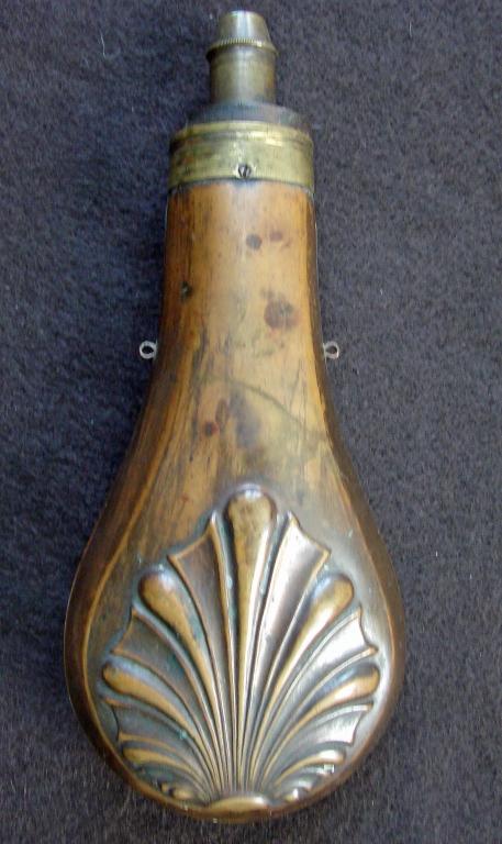 Original Mid 19th Century Powder Flask