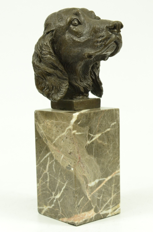 Bronze Bust, Cocker Spaniel Dog Sculpture