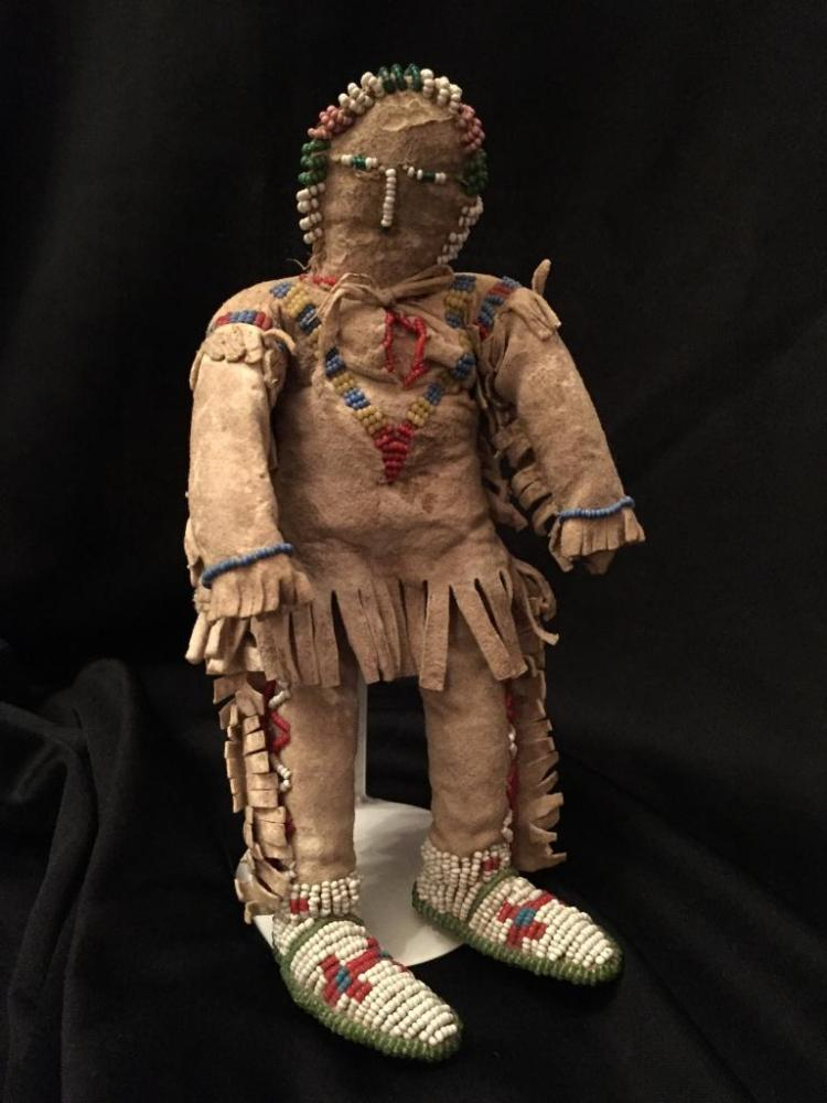 Antique Native American Beaded Doll