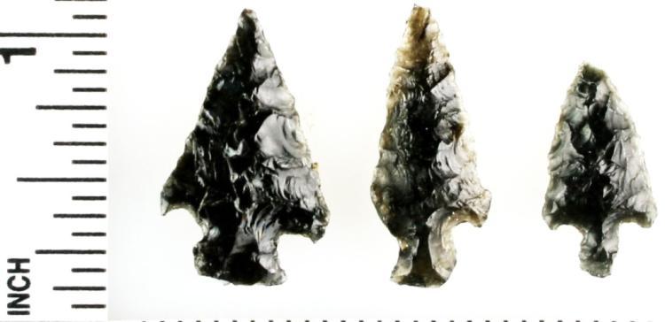 Set of Arrowheads, Obsidian Bird Points
