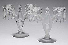HEISEY NO. 402 / GOTHIC DOUBLE-SOCKET CANDELABRUMS