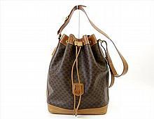 PP0784 Vintage CELINE Leather Shoulder Bag
