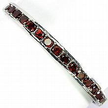 Elegant 57.15 ct VVS Garnet Bangle Bracelet