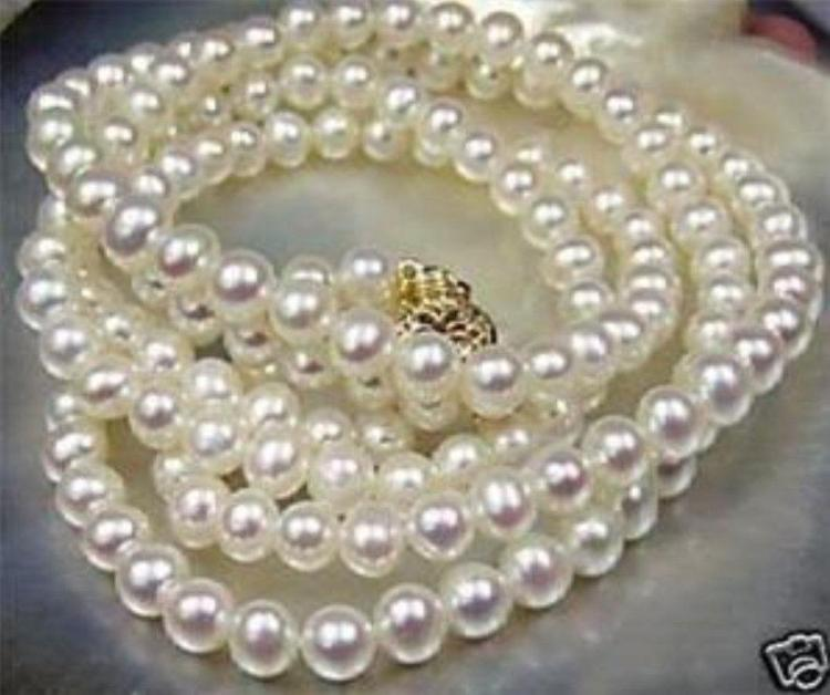"""Furniture Bluffton Sc Brilliant - matched, 36"""" string of White South Sea Pearls wi"""