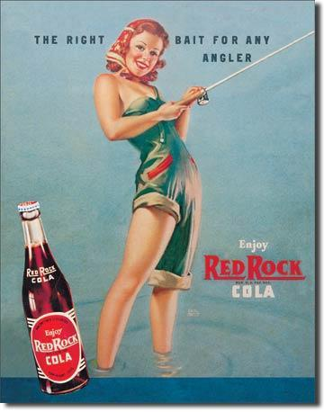 Furniture Bluffton Sc Lot 123: Red Rock Cola Fishing Beauty Metal Sign