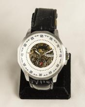 Men's Stainless Automatic Skeleton Wristwatch
