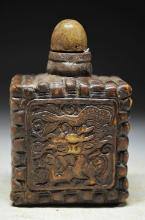 Chinese Carved Hard Stone Snuff Medicine Bottle