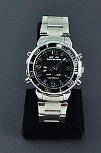 Men's Sports Wrist Watch w/ Metal Date Alarm