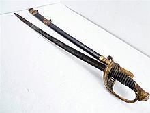 CIVIL WAR, AMES CHICOPEE MASS MARKED STAFF SWORD