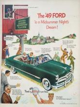1949 Ford Car Magazine Advertisement