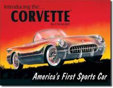 Chevrolet '53 Corvette Memorabilia Tin Sign