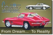 1960's Chevy Corvette Stingray, Metal Sign