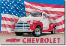 Vintage '51 Chevrolet Truck Tin Sign