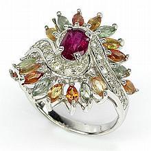 Fancy Gemstone Sterling SIlver Ring