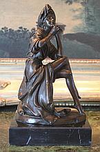 Sensual Model Bronze Sculpture