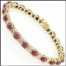 Cabochon Ruby, Diamond Bracelet
