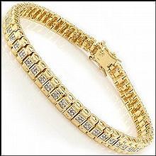 Yellow Gold, Diamond Bracelet