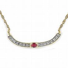 Ruby, Diamond Necklace.