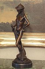 Handsome Bronze Sculpture David and Goliath
