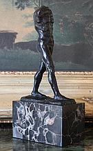 Seductive Nude Male Torso Bronze Sculpture