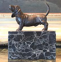 Darling Bassett Hound Bronze Sculpture