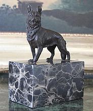 Proud German Shepherd Bronze Sculpture