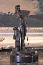 Lady Golfer, Bronze Sculpture