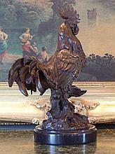 Marvelous Bronze Sculpture Rooster