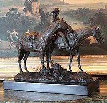 Equestrian Cowgirl Bronze Sculpture