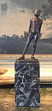 Adorable Nude Child Bronze Sculpture