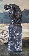 Splendid Male Nude Bronze Sculpture